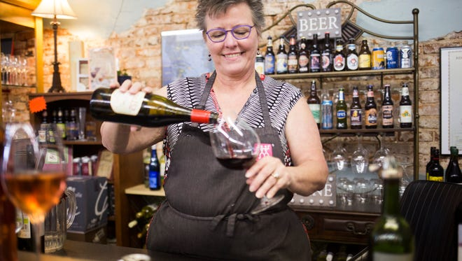 Gay McLeskey and her wine bar at Kitchen Emporium will be open during First Friday.