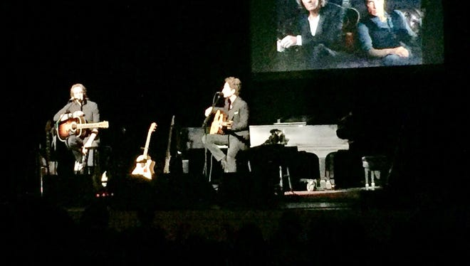 Rick Springfield and Richard Marx performed together for the first time in their careers on Saturday at the Weidner Center.
