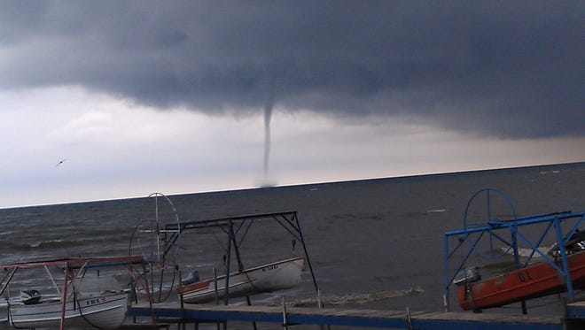 2012 file photo: Mary Testa of Hamlin shares this photo of a waterspout on Lake Ontario.