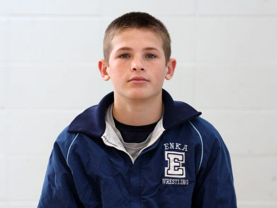 Enka rising sophomore Phil Daub is the youngest state wrestling champion in school history.