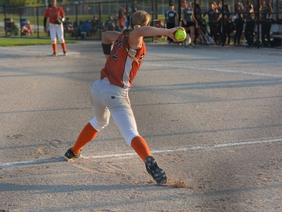 Stormy Kotzelnick, 13, plays for the Beverly Bandits, an elite softball team out of Chicago.