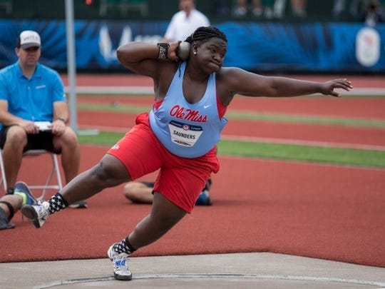 Ole Miss' Raven Saunders qualified for the Olympics in the shot put.