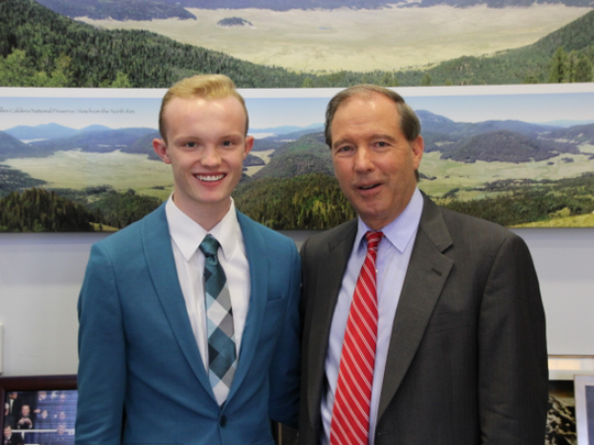 Emerson Morrow, a 2015 Mayfield High School graduate and NMSU student, worked as an intern in Sen. Tom Udall's Washington, D.C., office in the summer of 2016.