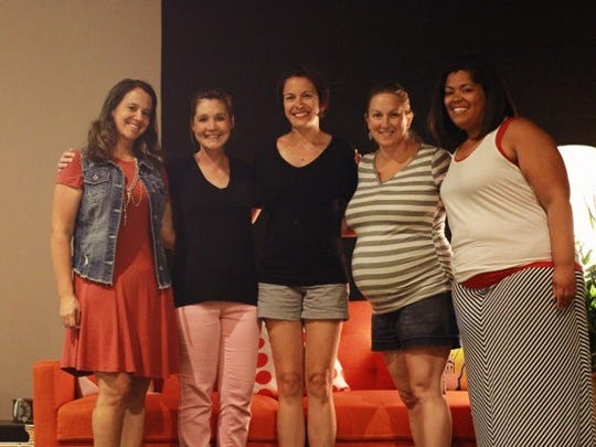 Mama Tribe organizers and mentors: from left, Michelle Bumbaugh, Crystal Elworth, Ashley Tkacikk, Kim Pedersen and Chanelle Green.