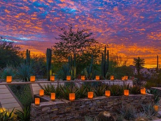 Luminarias at Las Noches de las Luminarias at the Desert