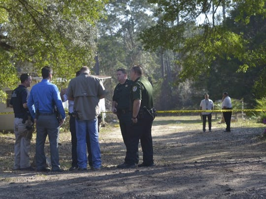 Escambia County Sheriff's Office deputies and U.S. State Marshals are on the scene of a home invasion in Beulah.