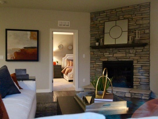 An interior shot of the new Pulte Homes model at The