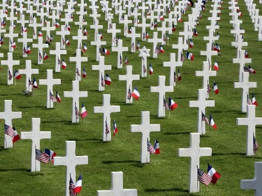 The cemetery near Normandy, France