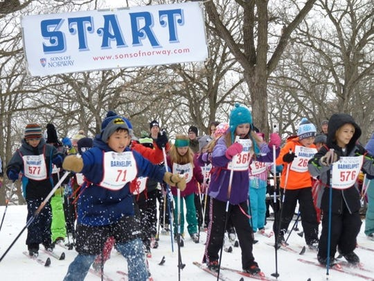 The Sons of Norway sponsors the Barnelopet ski event, shown in this photo from 2017. The next Barnelopet will be Jan. 21 at Riverside Park in St. Cloud.