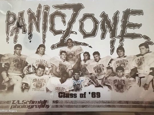 Shasta High's football players who won the 1988 section title called themselves the Panic Zone.