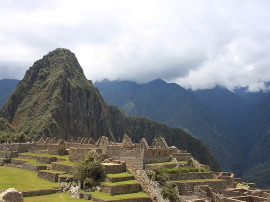The iconic citadel of Machu Picchu is shown in this
