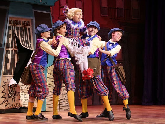 """Local actors (the newsboys in photo) star in Riverside Theatre's production of 'Gypsy"""""""