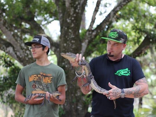 Two of the Treasure Coast Wildlife Center's reptilian