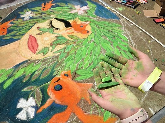 Dogwood Arts' Chalk Walk celebrated its 10th anniversary this year.