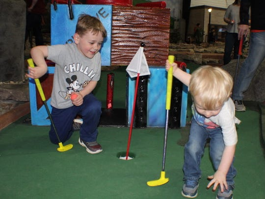Golf, climb, play games and more at a birthday party