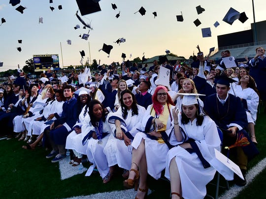 Chambersburg Area Senior High School held its 2018 commencement on Friday, May 25, 2018 at Trojan Stadium.