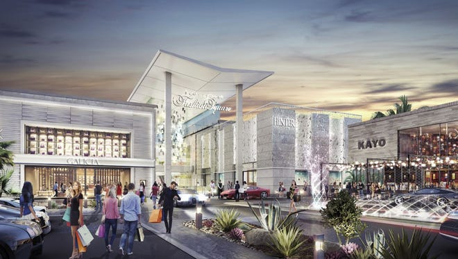 A rendering shows the planned new entrance to the luxury wing at Scottsdale Fashion Square.
