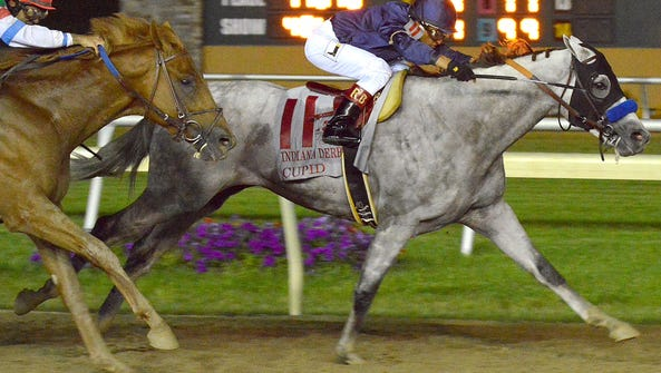 Cupid wins the Indiana Derby at Indiana Grand by three-quarters