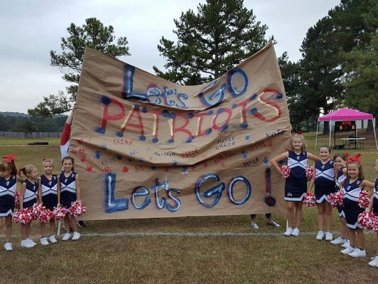 YMCA Pike Road Patriot cheerleaders are ready to cheer