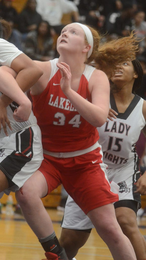Sophomore forward Allison McBride routinely stepped up for Lakeland during the Lancers' Passaic County tournament run.