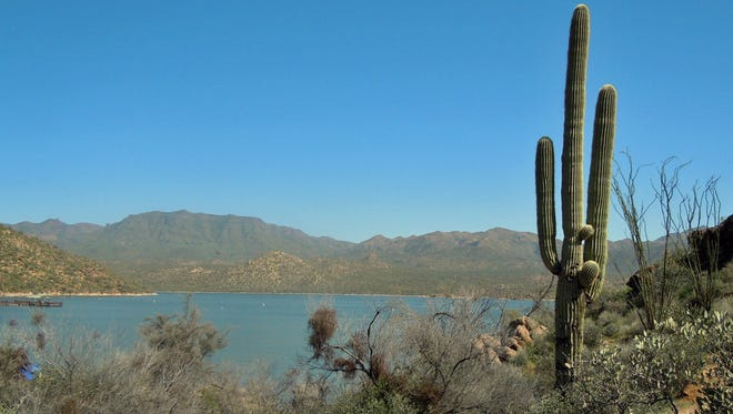 Bartlett Lake, northeast of Phoenix, is one of two reservoirs on the Verde River.