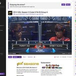 This frame grab taken from Twitch.tv shows two gamers competing and a streaming chat, at right, as visitors to the online network watch the two gamers go head-to-head. Twitch's 55 million monthly users viewed more than 15 billion minutes of content on the service in July 2014, making Twitch.tv one of the world's biggest sources of Internet traffic.