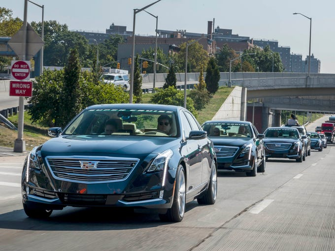 The 2018 Cadillac CT6 on a media drive on the West
