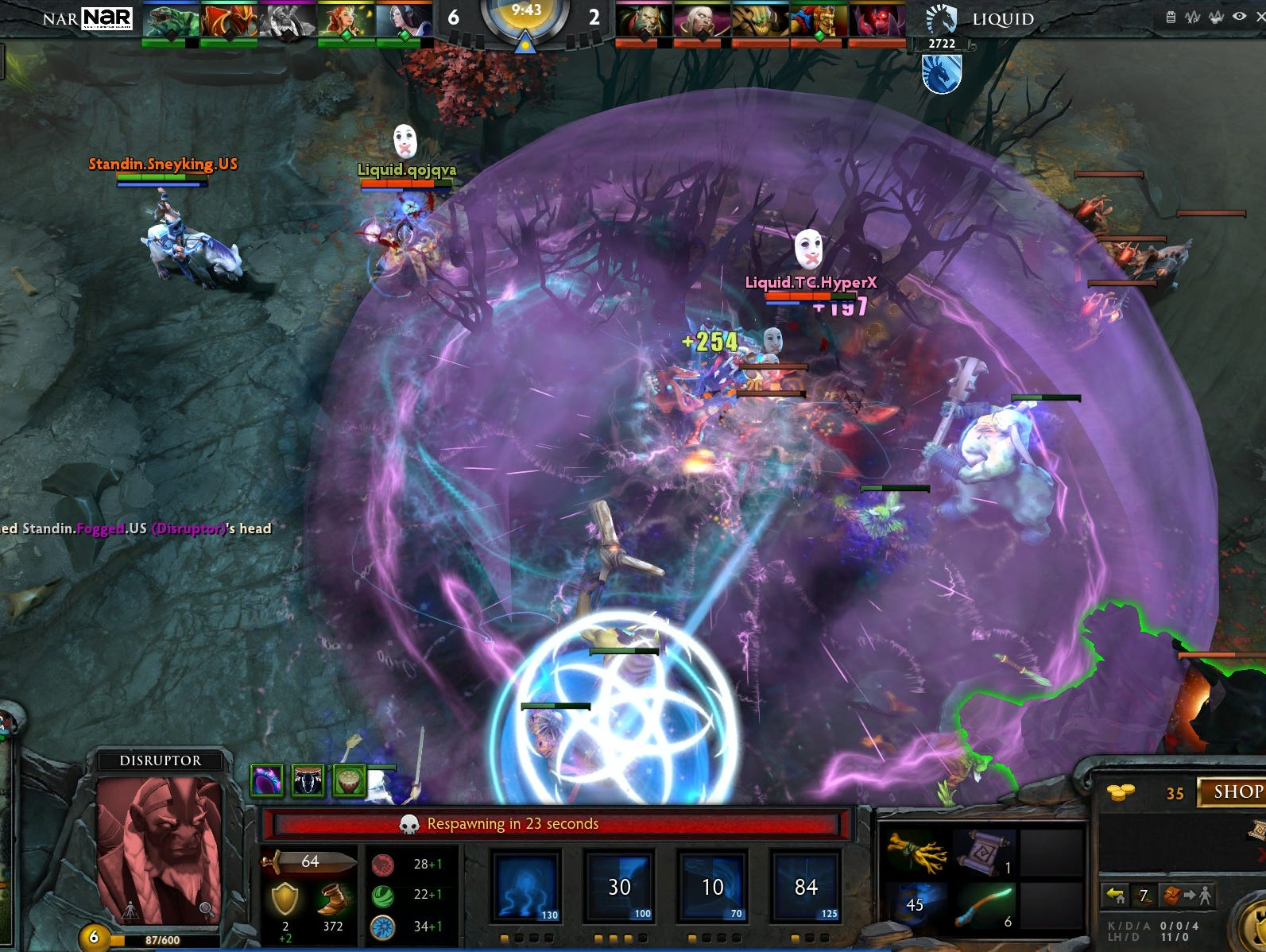 A scene from the game 'Dota 2.'