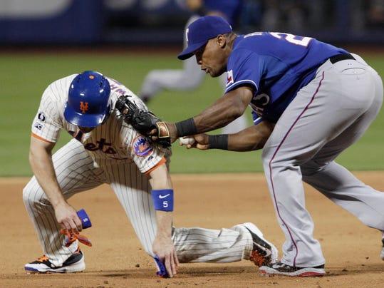 Rangers Mets Baseball (2)