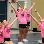 The Richmond cheer team qualified for the state finals by finishing second in its region Saturday.