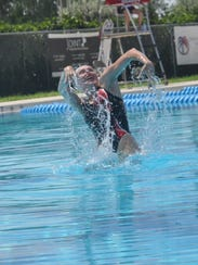 Meet watch olympic synchronized swimmers in naples for Public swimming pools in naples florida