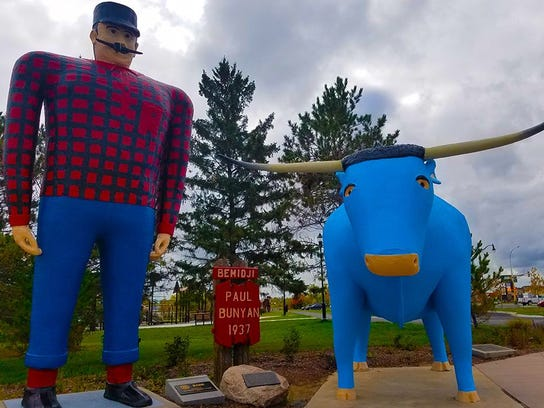 a story of paul and babe Backhoe excavated around paul and babe 1 the paul bunyan and babe  statues in bemidji, minn paul stands 18 feet tall the iconic statues.