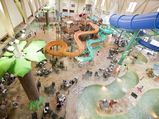 Families can choose between 16 Great Wolf Lodge locations for an all-seasons vacation