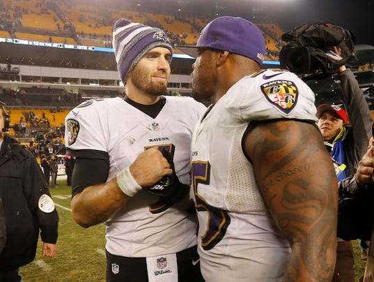 2015 1 4 Joe Flacco Terrell Suggs
