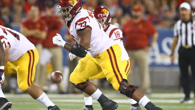 USC offensive tackle Austin Jackson was the 18th pick in the last NFL Draft.