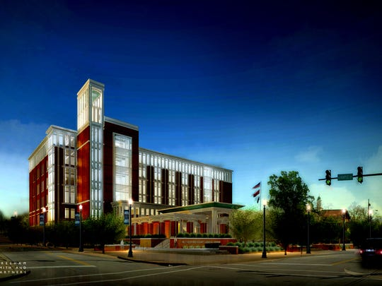 This is the latest design for the Rutherford County Judicial Center.