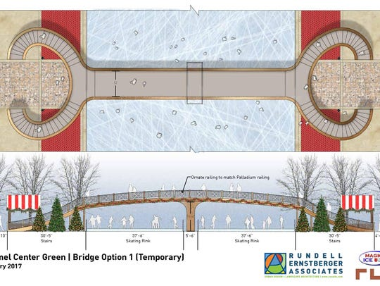 Option for a temporary bridge at Carmel's proposed