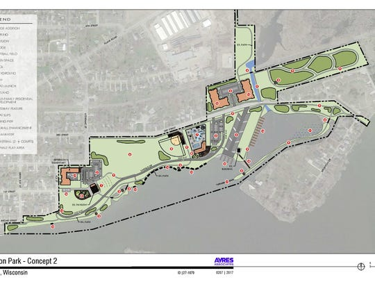 Concept 2 for Jefferson Park in Menasha.