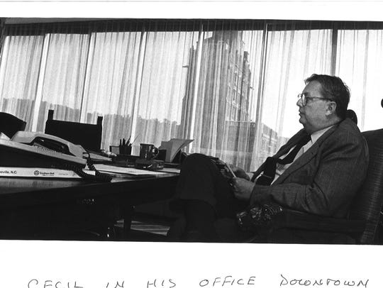 In this September 1987 file photo, William A.V. Cecil