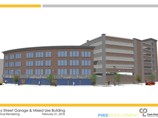 City of Binghamton released concept renderings Monday of the proposed Hawley Street mixed-use parking project.