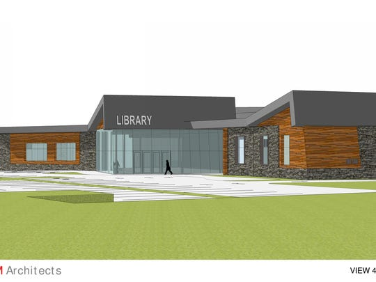 While there is no final design for the proposed north Clarksville library branch as of yet, here are some earlier schematic designs developed for the local library by the HBM Architectural firm.