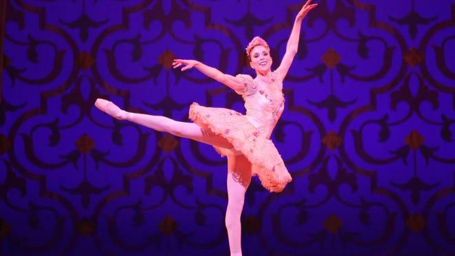 "Ashley Lynn Sherman as the Sugar Plum Fairy in a past performance of Ballet Austin's ""The Nutcracker."""