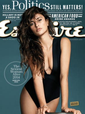 """Penelope Cruz on the November 2014 cover of """"Esquire"""" magazine. The magazine has named Cruz The Sexiest Woman Alive for 2014."""