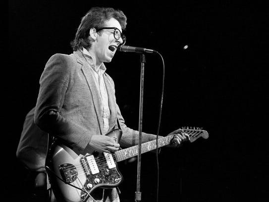 Elvis Costello during Elvis Costello in Concert at