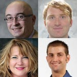 Gannett Wisconsin Media Investigative Team members John Ferak, Keegan Kyle, Shereen Siewert, Eric Litke