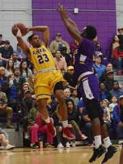 LSU of Alexandria's Jordin Williams (23) looks to pass