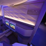 United's new Boeing 777-300ER, Polaris cabin gets splashy debut flight