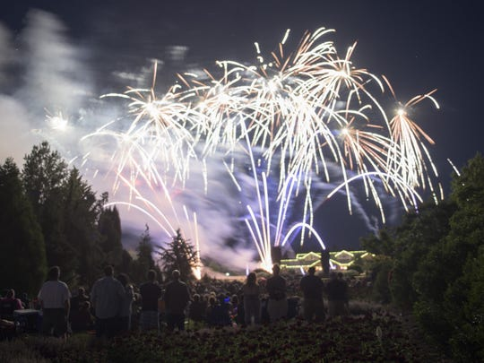 The Oregon Garden is one of the places that will hold fireworks in early July. The Silverton garden will feature live music 7 to 11:30 p.m., with a break for 10 p.m. fireworks on July 3. Admission is free after 6 p.m.