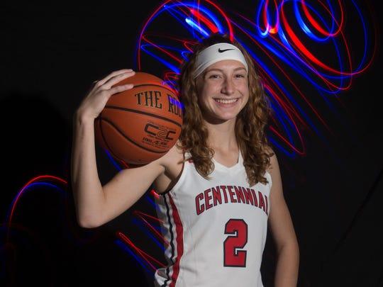Lindsey O'Sullivan of St. Lucie West Centennial High School, all-area girls basketball finalist.