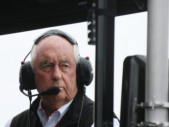 Roger Penske gets his game face on before the first dual in the Chevrolet Detroit Grand Prix on Saturday June 3, 2017 on Belle Isle in Detroit.
